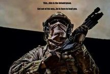 Brotherhood of the Infantry / Any country, any time, any place. Crossed rifles. 'Nuff said.