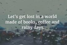it's raining / tea, books, chocolat, rain, autumn...