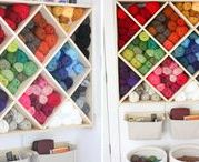Yarn Storage / All the funnest ways to store your yarn stash or crochet & knit WIPs. From shelves to tubs to hanging baskets, you're sure to find a good idea for how to store your yarn here!