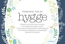 • hygge • / Pronounced hoo•ga  Danish concept that encompasses a feeling of cozy contentment and well-being through enjoying the simple things in life