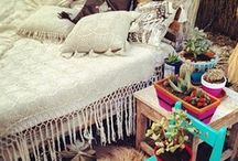 BOHO HOME / bohemian, hippie and gypsy living and decoration