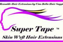 Tape In Remy Hair Extensions - Super Tape In Extensions 20 in. / Where to Buy Tape In Hair Extensions, Online : Best Human Remy Tape In Hair Extensions at Ciao Bella and Venus Hair Extensions Supply : www.ciaobellaextensions.com/tape_in_hair_extensions_seamless.html / by Ciao Bella Hair Extensions
