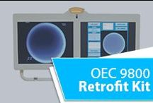 """OEC 9800 Retrofit Kit / OEC 9800 Retrofit Kit allows users to replace the old displays on their OEC 9800 mobile C-Arm, with new dual 20.1"""" grayscale LED LCD's. The OEC 9800 Retrofit's innovative design gives users the flexibility to perform the installation in the field in one hour or less. Retrofit provides users a way to drastically increase the life of their mobile C-Arm creating significant time and cost savings C-Arm unit even more versatility and freedom."""