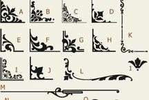 scrolls/embellishments