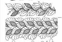 Zentagle Doodling / Зентагл и Дудлинг, и попавшие туда по воле автора   орнаменты  мехенди, образцы рисунков, узоров, орнаментов, пошаговое обучение