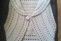 Crochet Wearable Items / Ideas for crochet shrugs, jackets and other wearable apparel