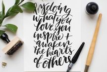 hand lettering + typography