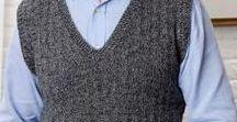 Crochet Things for Men / Cardigans, vests & sweaters for men.