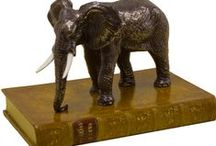 Exotic paperweights / A range of animal paperweights sculpted for us by a local artist.