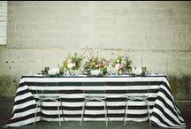 B L A C K W H I T E W E D / Gorgeous chic black and white weddings #blackwhiteweddings