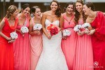P I N K W E D D I N G S / Colorful pink wedding ideas #pinkweddings