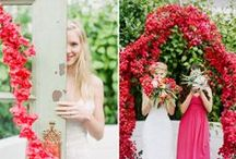 R E D W E D D I N G S / Unique and color red wedding ideas #redweddings