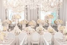 W H I T E / Modern and chic wedding adorned in white #whiteweddings
