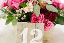 T A B L E N U M B E R S / Tons of options to assist you in designing your wedding table numbers! #weddings