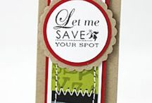 Bookmarks / Bookmarks & Inspirational quotes that can also be used on gift tags.  Also bookmark holders.