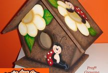 Tole Painting / Rosemaling, Folk Art painting and Learning one stroke painting.