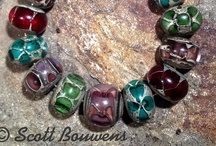 Colorful Silvered Lampwork Sets