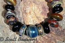 Raku-Style Lampwork Bead Sets