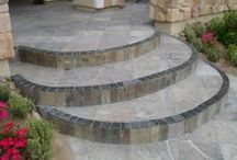 Outdoors / Outdoor tile, stone and stained concrete projects.