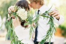 Weddings | Spring Greens / The perfect way to celebrate spring with a simple green and white palette