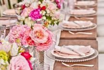 Weddings | Peachy Pink / Peachy pink palette with sparkle makes a romantic wedding trend for 2015
