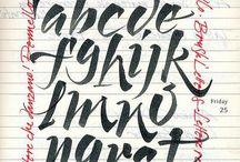 Brush Script Lettering