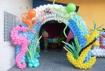 Tropical Balloon Decor