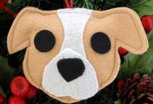 Pit Bull Christmas / Celebrating Christmas Pit Bull Style! Gifts, Cards, Wreaths, ornaments and other holiday Pit Bull merchandise.