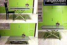 Tables escamotable Multi position / tendances et idées sur les tables escamotables en tailles et positions, fabriquées sur mesure.