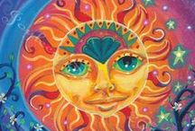 Painting - Sun and Moon / sun and moon, art, painting