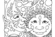 Pattern - Sun and Moon / sun and moon pattern