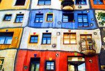 Painting - Hundertwasser / Hundertwasser, art, painting, house