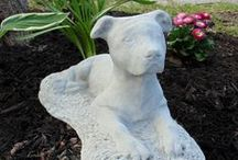 Home and Garden / Decorating your Home and Garden with Pit Bull signs, statues and other outdoor items to welcome guests.