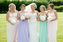 Blushing Bridesmaids / All the inspiration you could need to make sure your special ladies look amazing on your big day.  #weddings #bridesmaids #dresses