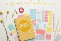 Pretty printables / Printables for home, art printables, free printables, calendar printables, planner printables, organizational printables, printable labels, printable cards, printable tags, and more!