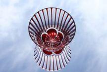 Kiriko (cut glass) KOBIN studio こびん工房の切子 / Original design cut glass KOBIN workshop こびん工房のオリジナルデザインの切子