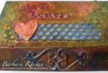 Barbara Rankin  Design Team 2015 / Barbara Rankin here,  I'm thrilled to be on the ColourArte design team.  I am a self-taught paper and mixed media artist, with my early beginnings making cards and gifts for family and friends.  I picked up my first rubber stamp in 1995, before the internet had so much inspiration to offer up-and-coming artists.  I love adding dimension to my projects and share what I have learned with others, and just about everything I make has it in some form or fashion.
