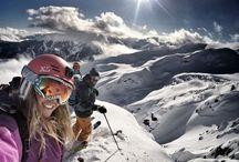 Snowboard & skiing
