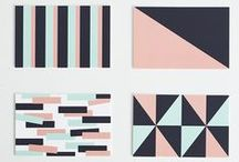 color inspiration / geometric patterns, shapes, and colors