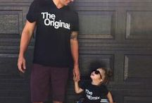 Daddy and Me Outfits / Daddy and me ideas for girls and boys. We've put together a collection of Daddy and me ideas including inspiration like: Daddy and me outfits, daddy and me photography, daddy and me shirts, daddy and me activities, daddy and me clothes and gender neutral daddy and me clothes.