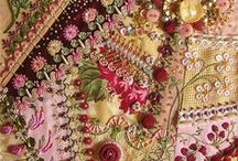 Crazy Quilts / Crazy Quilting, Ribbon Embroidery, Beading