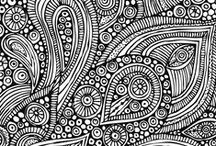 Coloring, Drawing, Mazes, Zentangle & Printables / Coloring pages for young to adults, how to draw simple animals to zentangles, zentangles (intricate coloring designs), mazes & printables
