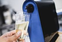"""Gifts For The Wine Enthusiast / A wise t-shirt once said """"Wine: How Classy People Get Drunk."""" How true it is. Learn how to tie one on real sophisticated-like, and dig into our great gear for wine lovers. The Corkcicle and the Chilling Wine Carafe will keep your whites the perfect temperature, while the Vignon Waiter Corkscrew is the old school way to bust into your Seven Deadly Sins wine, or the oversized, yet special blend from Francis Ford Coppola, his """"Carmine"""" Wine Jug. Cheers! And keep it classy."""