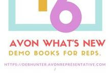 Avon What's New / Demo Books for Avon Representatives. To become an Avon Representative and recieve books like these, go to www.startavon.com enter the reference code: DebHunter.  Cost is only $15!!  #avonrep, #sellavon, #sellavononline, #becomearep