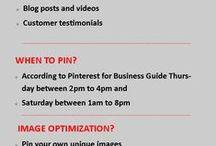 PINTEREST FOR BUSINESS / Let's go Pinterest...visual is better.