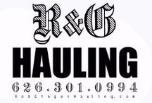 """Do It Yourself / R&G Hauling also known as """"Rob & Ginger"""" have been serving SoCal since 1993. Give us a call @ 626.301.0994. junk,trash,waste,debris,recycle service"""