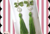 Earrings / Elegant and stylish handmade earrings as a way to beautify this special and sensitive part of our body,the glorious neck :)