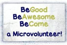 Microvolunteering / Easy, low or no commitment online and offline actions that benefit a worthy cause, where the main bulk of the task can be completed on demand in one or more sessions of upto 30 minutes, either from a person's home, work or on the go.  And, oh yeah, you can do them in your pyjamas!  http://helpfromhome.org/