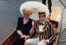 The right attire... / Suitable clothes for punt cruises and other genteel pastimes.
