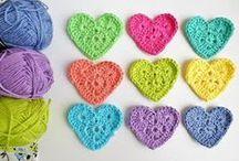 Crochet, knitting, yarn and knots